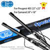 OGE Front Wiper Blade For Peugeot 405 22+22 For Samand 24+18 Windshield Wiper Silicone Rubber Accesories