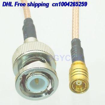"EMS/ DHL 50pcs  BNC male plug to SMB female jack straight RG316 Jumper pigtail 6"" cable 22j"