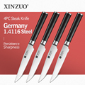 XINZUO 5-дюймовый нож для стейка Din 1 4116 кухонные ножи высокий нож из углеродистой стали нож из нержавеющей стали столовые приборы с ручкой Pakkawood