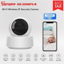 SONOFF cámara de seguridad IP con visión de 360 °, cámara HD de 1080P, GK 200MP2 B, alerta de actividad a través de la aplicación eWeLink, Wi Fi, detector de movimiento inteligente