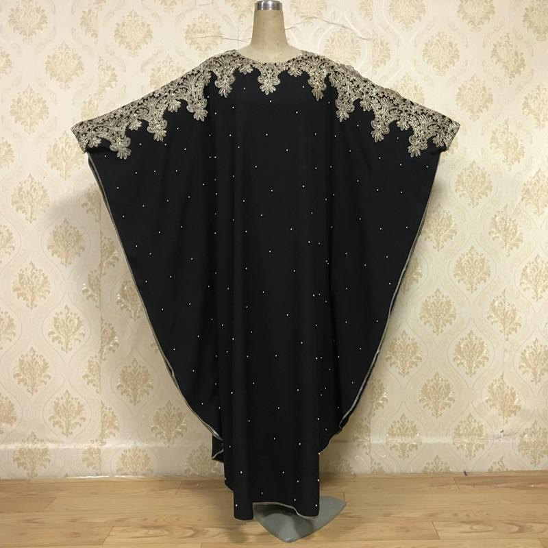 F835 Aliexpress Ebay Muslim Muslim Dubai Embroidered Beaded Batsleeved Robe Oversize Women's Stock