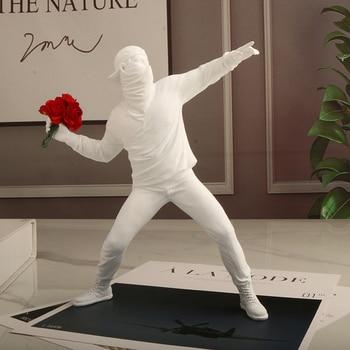 Resin Statues Sculpture Flower Thrower from Banksy Graffiti 1