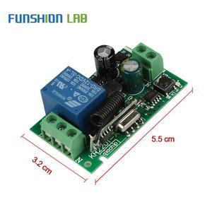 Image 5 - 433Mhz Không Dây Đa Năng Điều Khiển Từ Xa AC 110V 220V 1 CH Tiếp Module Thu Với 6 Kênh RF LED Từ Xa Thiết Bị Phát