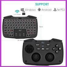Rii RK707 oyun Controller2.4GHz kablosuz klavye 62 tuşlu fare Combo w/ Touchpad PS3 TV kutusu akıllı TV