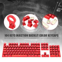 104 Keys PBT Double Shot Keycaps Injection Backlit Color Keycaps for all Mechanical Keyboards with Keycap Puller(China)