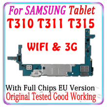 Free shipping Original For Samsung Galaxy Tablet 3 8.0 T311 T310 T315 motherboard with chips Logic Board With Android System