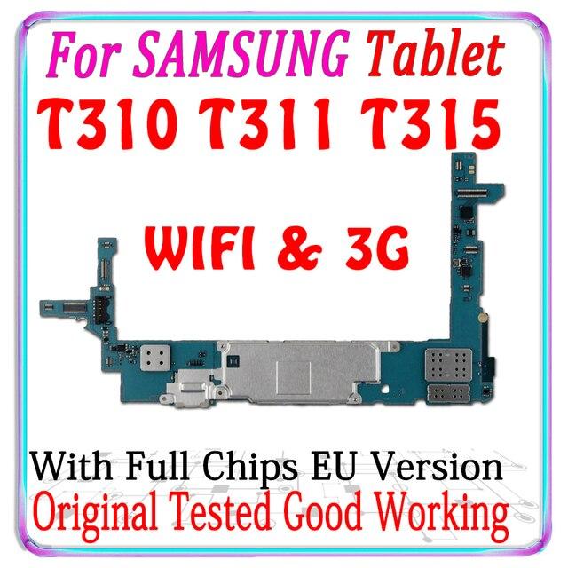 Gratis Verzending Originele Voor Samsung Galaxy Tablet 3 8.0 T311 T310 T315 Moederbord Met Chips Logic Board Met Android Systeem