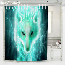 Psychedelic Wolf Waterproof Fabric Shower Curtain 3D Animal Bathroom Modern Bath douchegordijn tenda doccia