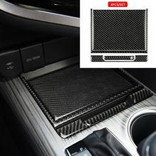For Toyota Camry 2018 2019 Carbon Fiber Center Console Storage Box Cover Trim Decoration Sticker Frame Interior Accessories