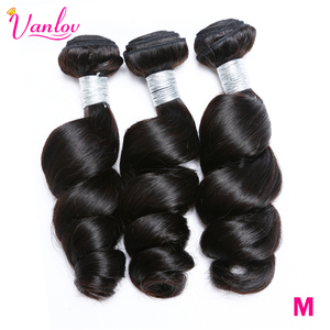 Vanlov Malaysian Loose Wave Hair Weave Bundles Natural Color 100% Human Hair weaving 1/3/4 Piece 8-30inch Remy Hair Extension