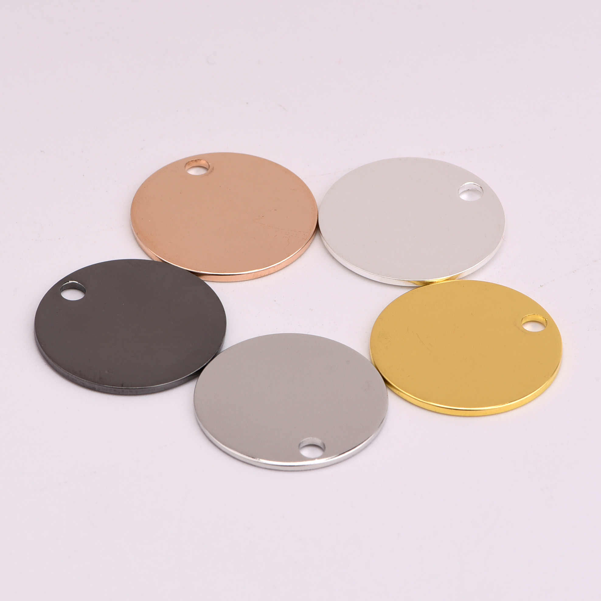 20mm 5pcs copper Round tag charms Plate round cake shape pendant fit ornamentation Vintage DIY for bracelet necklace