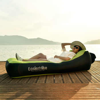 Portable Inflatable Lounger Air Sofa Bed WaterProof Anti-Air Leaking Break Beach Lazy Cushion Chair for Traveling Camping Picnic