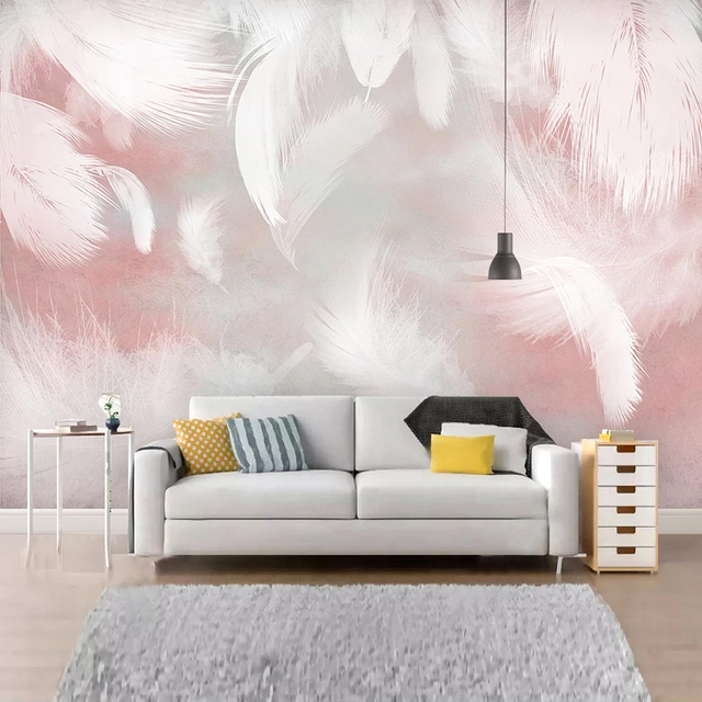 Custom 3D Photo Wallpaper Modern Abstract Feather Art Wall Painting Waterproof Canvas Living Room Bedroom Wall Papers Home Decor 2