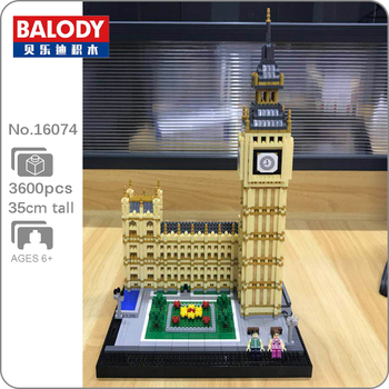 Balody Big Ben World Architecture Elizabeth Tower Building Blocks Mini Diamond Brick Building Toy 3D Model Toy for Children Gift balody world famous architecture usa the white house building blocks 3d model diy mini diamond blocks bricks children toy gifts