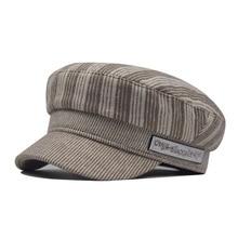 Высококачественная Черная полосатая британская военная шапка, шерстяные береты, розовая восьмиугольная шапка, осенняя/зимняя шапка, Уличная Повседневная одежда