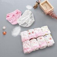 Shorts Underwear Calcinhas Panties Girls Kids Lace Cotton 4pc/Lot