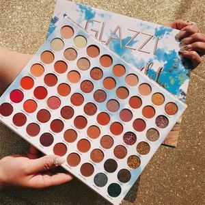 Image 5 - ICYCHEER איפור 63 צבעים קשת צבעים צלליות הבלחה Gltter מט שמנת צלליות פיגמנט maquillage paleta דה sombra