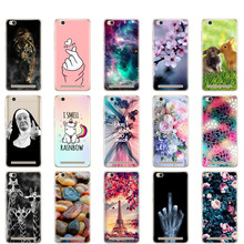 Silicon Case For Xiaomi Redmi 5A 5.0 inch Case Soft TPU Back Phone Cover for Hongmi 5A Shell Painted Coque Bumper for Redmi 5a(China)