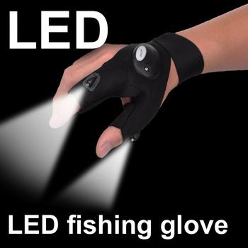 1 sztuk oświetlenie rękawica noc naprawa samochodów rękawica led light noc lampa wędkarska rękawica wiszące lampy przynęty noc akcesoria wędkarskie tanie i dobre opinie Anti-cut Trzy Wyciąć Palec