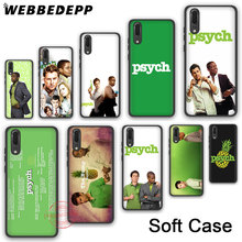 WEBBEDEPP 234N psych shawn and gus Soft Silicone Phone Case for Huawei P30 P20 P10