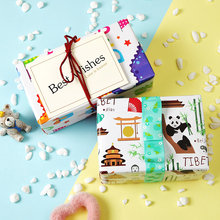 50*70cm 2pcs Childrens Cartoon Wrapping Paper Set Birthday Gift High-end Box DIY Handmade Thick
