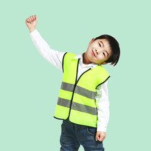 Chaleco de seguridad para niños de alta visibilidad, chaleco de chaleco infantil con tiras reflectantes ropas de tráfico