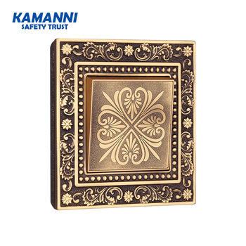 Kamanni Luxury Push Button Switch 1/2/3/4 Gang 1/2 Way Pure Copper Panel Wall Light Switch 10a US Standard Vintage Light Switch chint switches panel new5g two position one gang one way 118 type wall switch push switch