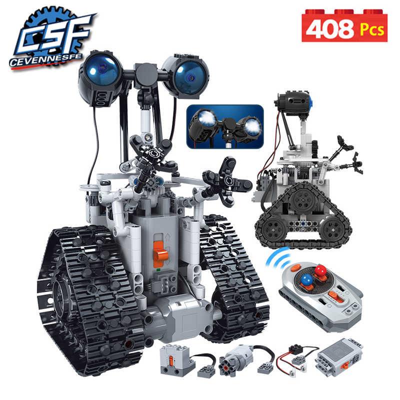 2020 NEW City Creativo RC Robot Blocchi di Costruzione Elettrica Technic Telecomando Intelligente Robot Mattoni Giocattoli Per Bambini 408PCS