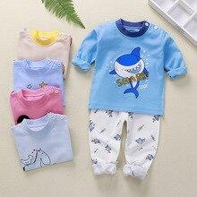 Spring Girl Clothes Pants Kids Baby T-Shrit Boy Children's Clothing Anime Shark Long Johns Thermal Underwear Pajama Sets Newborn