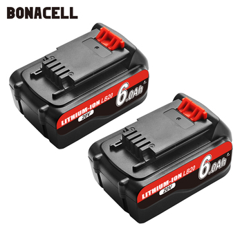 Bonacell 18V/20V 6000mAh Li-ion Rechargeable Battery Power Tool Replacement Battery for BLACK&DECKER LB20 LBX20 LBXR20 L70 20v 2500mah li ion rechargeable battery power tool replacement battery for black