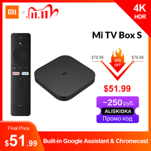 Original Global Xiaomi Mi TV Box S 4K Ultra HD Android TV 9.0 HDR 2G 8G WiFi Google Cast Netflix Smart TV Mi Box 4 Media Player