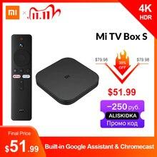 オリジナルのグローバルxiaomi miテレビボックスの4 18k超hdアンドロイドテレビボックス9.0 hdr 2グラム8グラムwifi googleキャストnetflixスマートテレビmiボックス4メディアプレーヤー