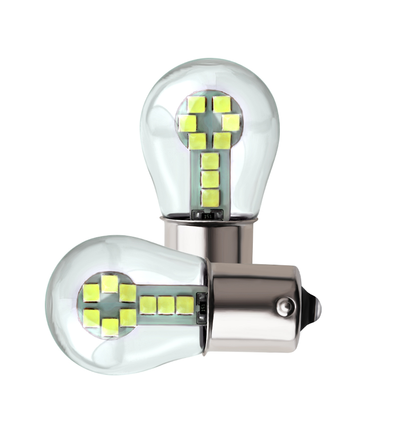 2 pcs 1156 <font><b>BA15S</b></font> P21W <font><b>Led</b></font> P21 / <font><b>5W</b></font> <font><b>Led</b></font> bulbs <font><b>R5W</b></font> R10W 18SMD 800LM car fog lights DRL Turn signal light <font><b>12V</b></font> white red yellow image