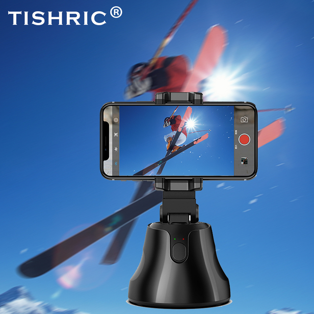 TISHRIC Gimbal Selfie Stick Tripod/Bluetooth Rotation Face Camera Phone Holder/Stand for Smartphone 360 Object Tracking Holder
