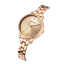 CURREN Reloj Women Watches 2019 Classic Fashion Female Watch Rose Gold Stainless Steel Wristwatches Water Resistant Montre Femme