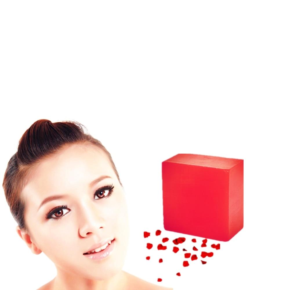 1Pcs Rose Hyaluronic Acid Essence Face Washing Soaps 12 Hours Lasting Moisturizing Beauty Soap Handmade Anti Wrinkle Soaps 100g