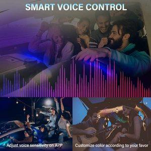 Image 3 - ANMINGPU RGB araba atmosfer iç ışık Neon LED şerit işıklar App ses kontrolü çoklu modları otomatik ortam dekoratif lamba