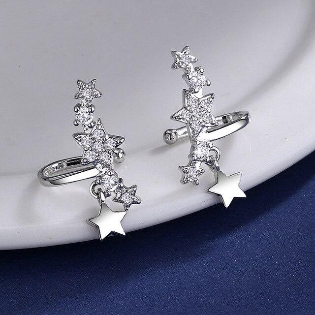 Dazzling Stackable Star CZ Zircon earrings for Women 925 Sterling Silver tassel star Mosaic CZ Zircon.jpg 640x640 - Dazzling Stackable Star CZ Zircon earrings for Women 925 Sterling Silver tassel star Mosaic CZ Zircon female Earrings Jewelry