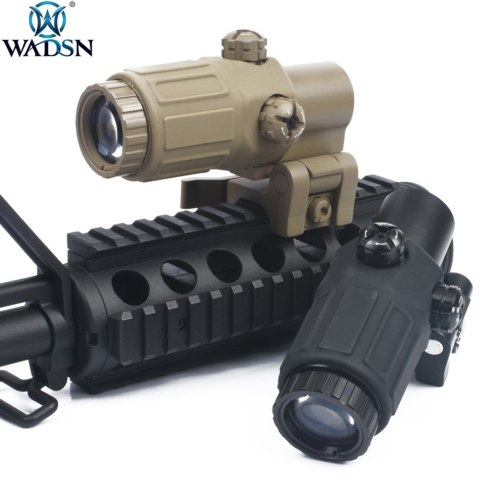 WADSN ET Style G33 3X Magnifier Holographic Rilescope Rifle Scope Red Dot Reflex Sight Tactical Telescope Optics