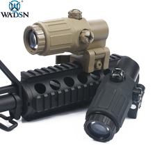 WADSN ET Style G33 3X Magnifier Holographic Rilescope Rifle Scope Red Dot Reflex