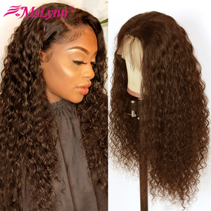 4# Water Wave Wig 360 Lace Frontal Wig Lace Front Human Hair Wigs For Black Women Pre Plucked Mslynn Brazilian Remy Hair