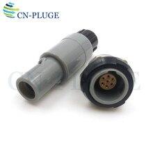 Conector plug and socket plástico 7 pinos equipamentos médicos push pull auto travamento m14 pag/plg