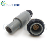 Connector Plug and Socket plastic  7 pin Medical Equipment Push pull self locking M14 PAG/PLG