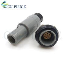 Złącze wtyczka i gniazdo z tworzywa sztucznego 7 pin sprzęt medyczny typu Push pull blokowania M14 PAG/PLG