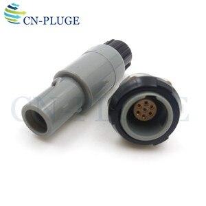 Image 1 - Złącze wtyczka i gniazdo z tworzywa sztucznego 7 pin sprzęt medyczny typu Push pull blokowania M14 PAG/PLG