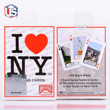 Bicycle I Love NY Playing Cards Poker Size Deck USPCC New York City Landmarks Custom Edition Magic Tricks Props