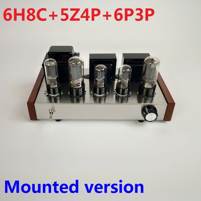 2020 Nobsound Home Audio Tube Amplifier Stainless Steel Case 5Z4P+6H8C+6P3P Mounted Tube Amplifier Output 8W+8W AC110V/220V