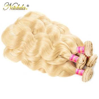 Nadula Hair 613 Blonde Body Wave Bundles 3pcs/4pcs Human Hair Weaving Color Blonde Hair Bundle Deals Free Shipping