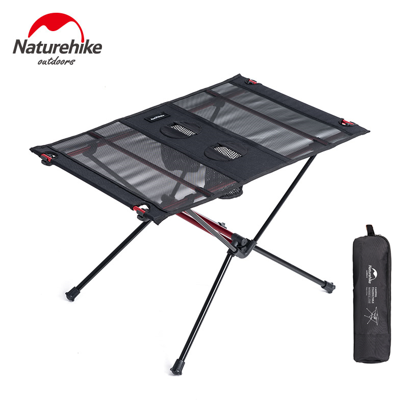 Naturel randonnée léger pliable en aluminium Portable retrousser en plein air pliant Table de Camping Patio en métal pliable Table de pique-nique
