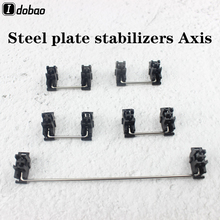 Black Steel Plate Stabilizers Axis Customization Mechanical Keyboard Plate Mount For Mechanical Keyboard